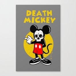 death mickey Canvas Print