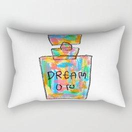 Colorful Perfume Fashion Illustration - inspirational quote typography pop art Rectangular Pillow