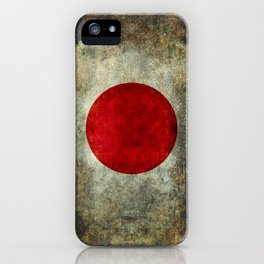 Japanese Flag in grungy retro style iPhone Case