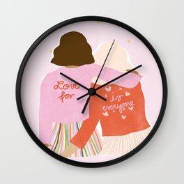 Love Is For Everyone Wall Clock