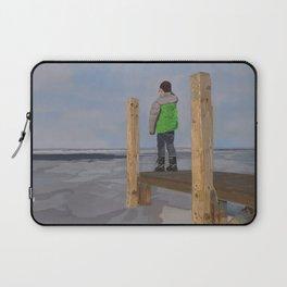 Icy Waters of Lake St. Clair, Harrison Twp., MI Laptop Sleeve