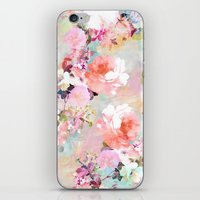 flower iPhone & iPod Skins featuring Love of a Flower by Girly Trend