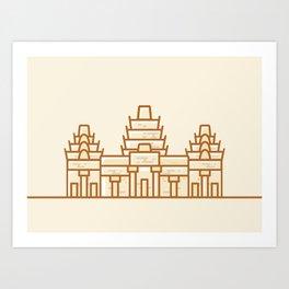 Cambodia - Angkor Wat Illustration Art Print