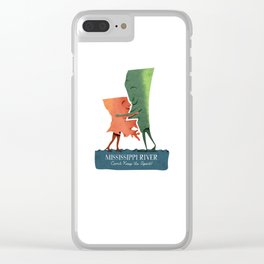 Louisiana Woman, Mississippi Man Clear iPhone Case