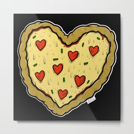 Valentines Day Pizza Pizza Metal Print