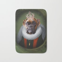 Queen Charlie - Boxer Dog Portrait Bath Mat