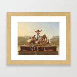 George Caleb Bingham The Jolly Flatboatmen 1846 Painting Framed Art Print