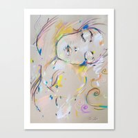 klimt Canvas Prints featuring Klimt inspiration by Oriane Jouët