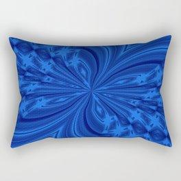 Abstract Butterfly Blue Rectangular Pillow