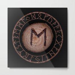 Ehwaz - Elder Futhark rune Metal Print