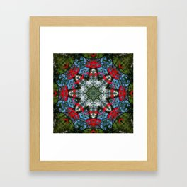 Japanese maple leaf mandala - 0592 k2 Framed Art Print