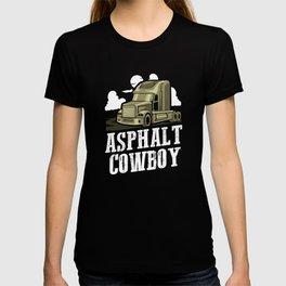 Asphalt Cowboy | Trucker T-shirt