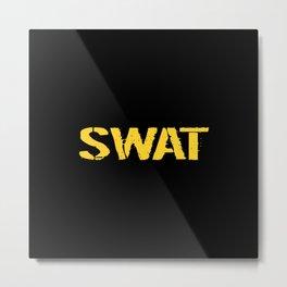 SWAT: Stencil (Gold) Metal Print