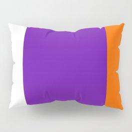 TEAM COLORS 8....Orange purple white Pillow Sham
