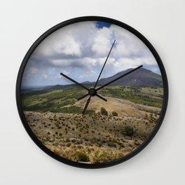 Pagan's North Volcano Wall Clock