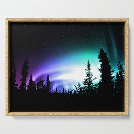 Aurora Borealis Forest Serving Tray