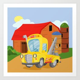 TOW TRUCK (GROUND VEHICLES) Art Print