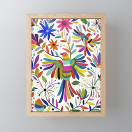 otomi bird Framed Mini Art Print
