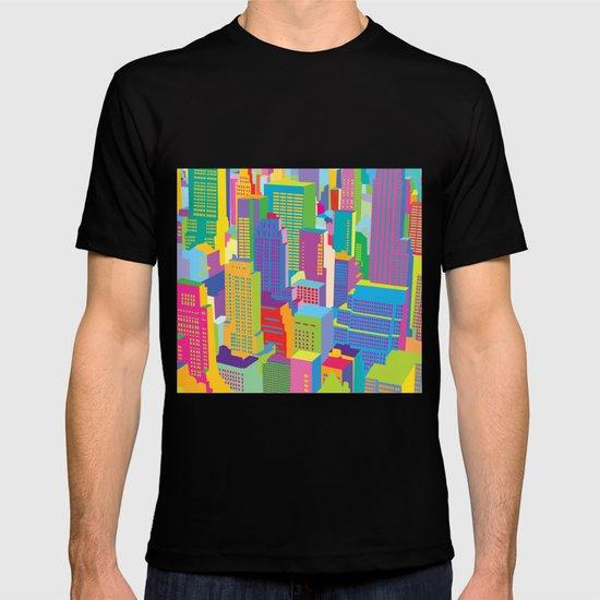 Cityscape windows T-shirt