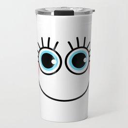 Happy Girlie Face Travel Mug