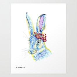 Forest Animals series - Rabbit Art Print