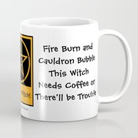 pagan Mugs featuring This Witch Needs Coffee! Pagan Wiccan Cup Mug by Cheeky Witch