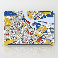 amsterdam iPad Cases featuring Amsterdam by Mondrian Maps