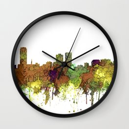 Baton Rouge, Louisiana Skyline - SG - Safari Buff Wall Clock