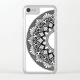 Mandala B&W Clear iPhone Case