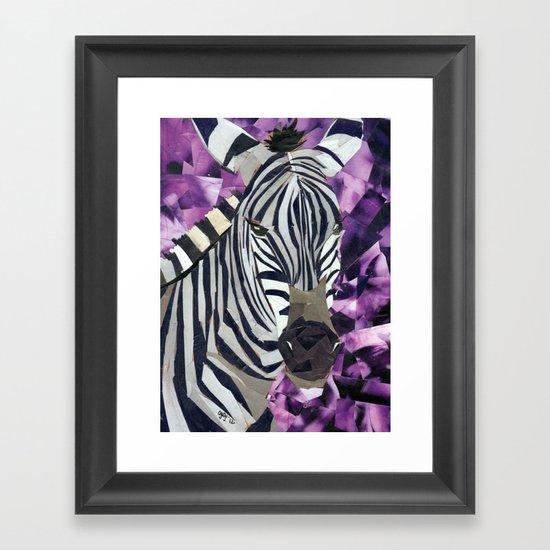 Zebra! Framed Art Print