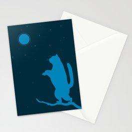 Sleepwalker. Cat illustration Stationery Cards