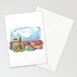 south rim // arizona landscape watercolor Stationery Cards
