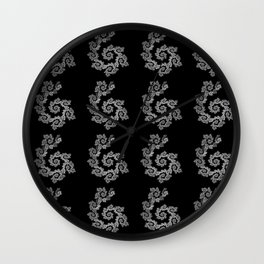 Dancing flowers in black and white Wall Clock