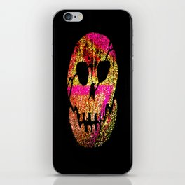 Glow Skull pink & gold iPhone Skin