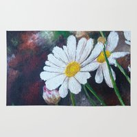 daisies Area & Throw Rugs featuring Daisies  by ANoelleJay