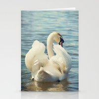 swan Stationery Cards featuring Swan by Svetlana Sewell