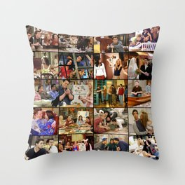 Friends Scene Collage Throw Pillow