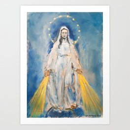 VIRGIN OF THE MIRACULOUS MEDAL Art Print