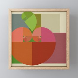 Fibonacci Apple Framed Mini Art Print