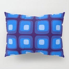 60s Blue Mod Pillow Sham