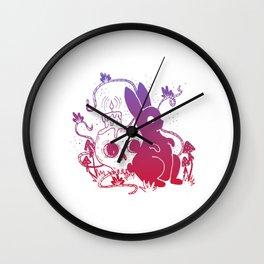 Ghost Rabbit - Darker Tones Wall Clock