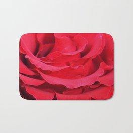 Beautiful Close Up Of Red Rose Petals  Bath Mat