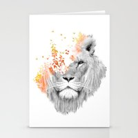 king Stationery Cards featuring If I roar (The King Lion) by Picomodi