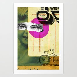 Play hide and seek with petit Nicola Art Print