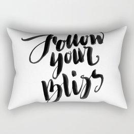 Follow Your Bliss - White Rectangular Pillow