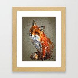 Fox background Framed Art Print