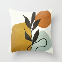 Soft Abstract Small Leaf Throw Pillow