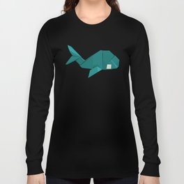 Origami Whale Long Sleeve T-shirt