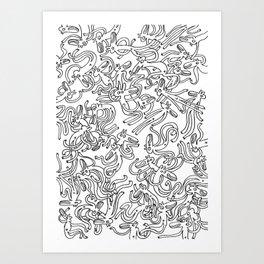 Garbled Art Print