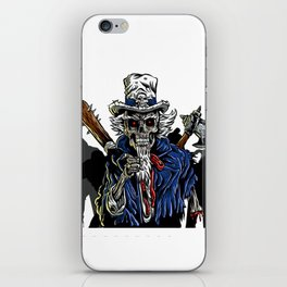 Zombie Uncle Sam  iPhone Skin